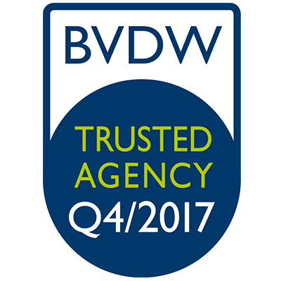 "Logo von BVDW ""Trusted Agency"""