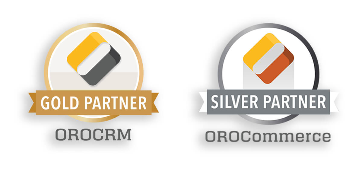 Logos OroCRM Gold Partner und OroCOmmerce Silver Partner